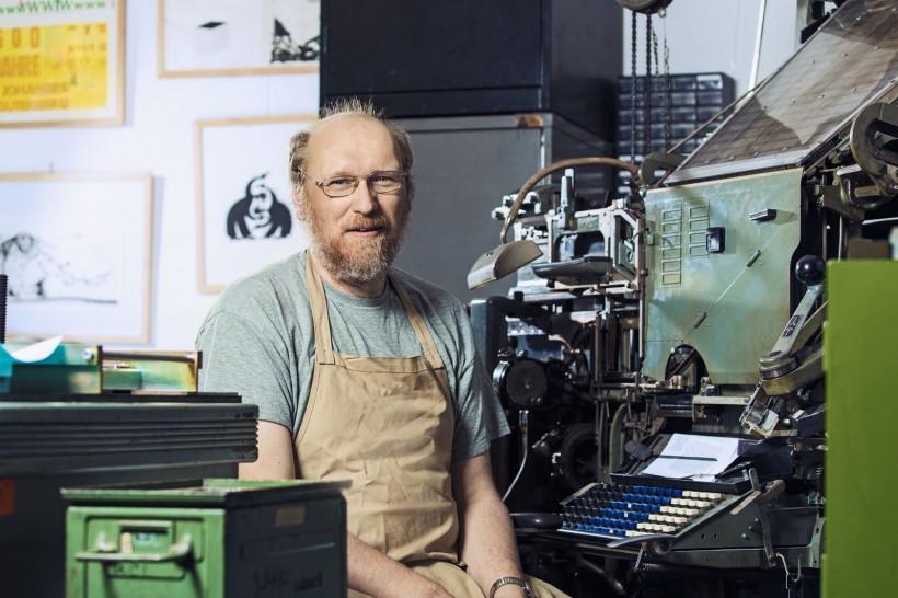 Businessporträts Bernhard Dorn (Geschäftsführer Dorndruck, Raunheim)