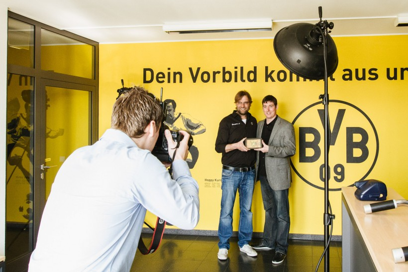 Making of Werbefotos Jürgen Klopp Dortmund
