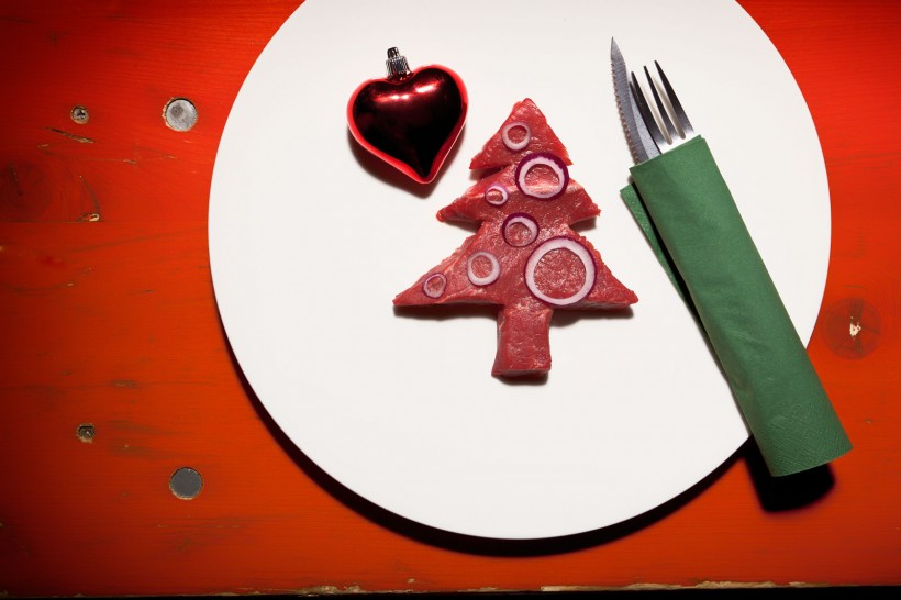 Werbefotos Weihnachtspostkarte Das Rind Rüsselsheim