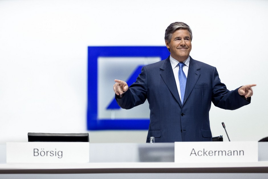 Eventreportage Hauptversammlung Deutsche Bank Dr. Josef Ackermann (Vorstand Deutsche Bank AG, Frankfurt am Main)