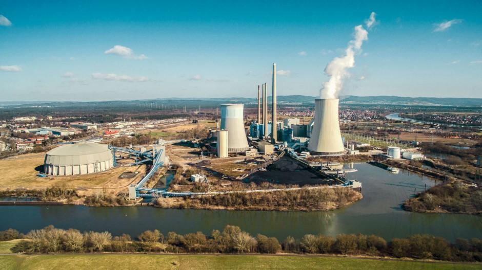 Luftbild Kraftwerk Staudinger bei Hanau