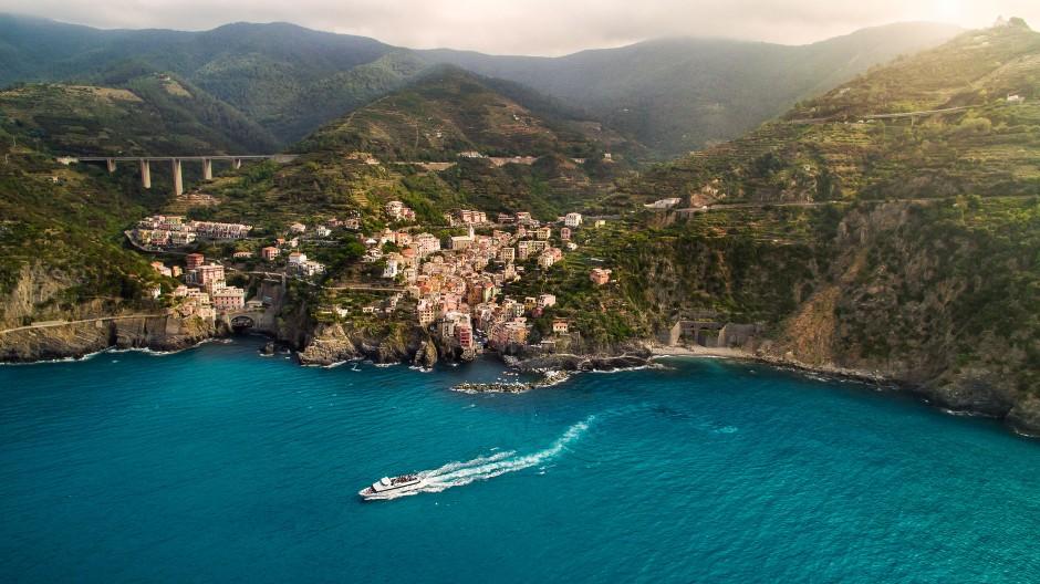 Luftbild Riomaggiore in Italien