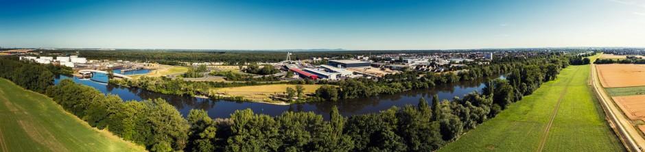 Luftbild Stadt Raunheim Panorama