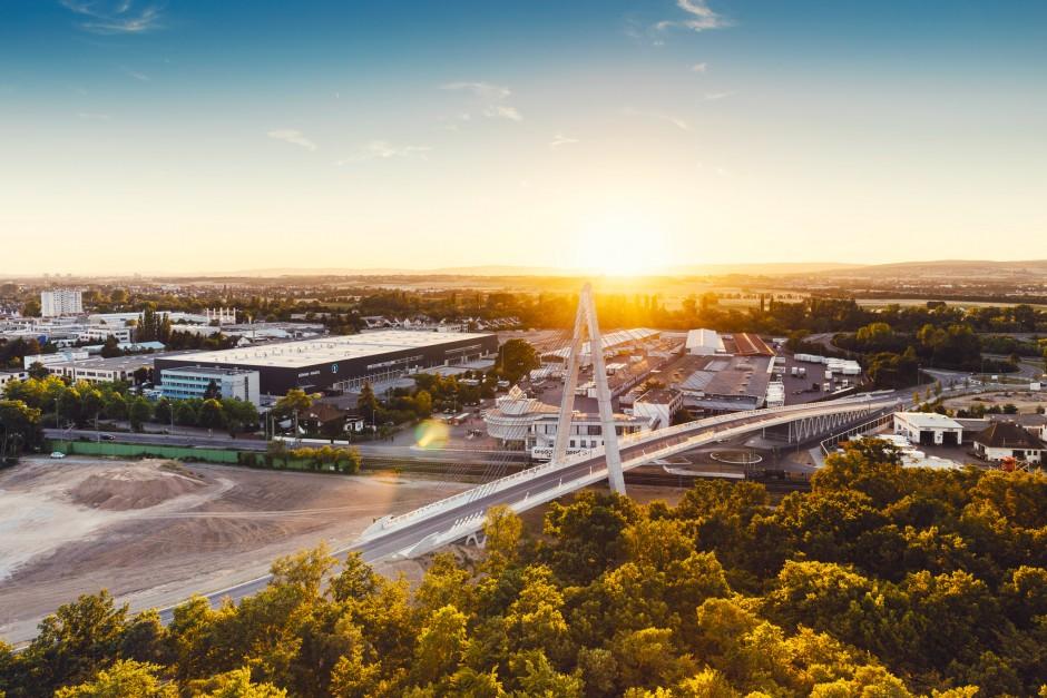 Luftbild Stadt Raunheim Airport Garden
