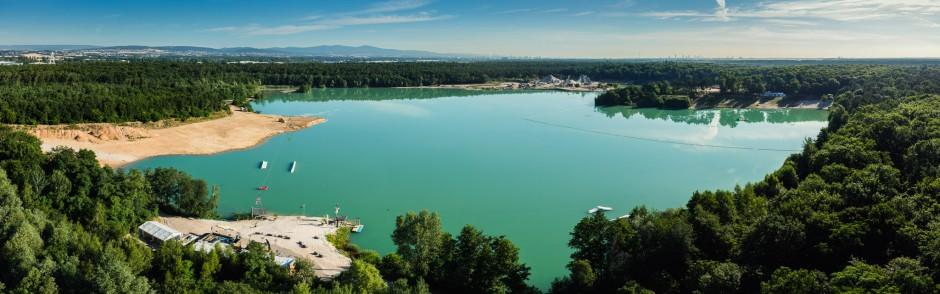 Luftbild Stadt Raunheim Waldsee (Dr. Bauer See)