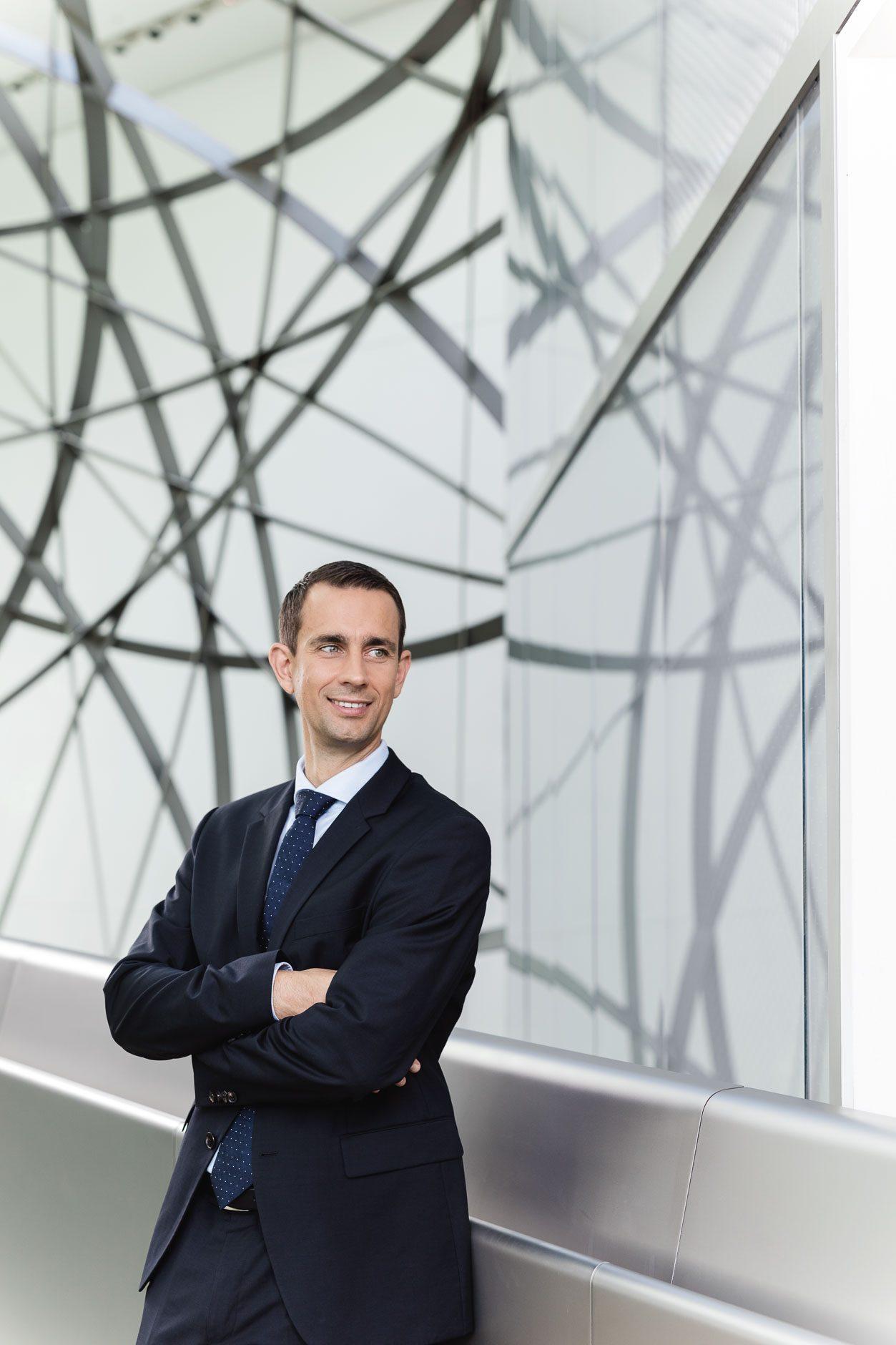 Businessporträt Christoph Zschätzsch, Leiter Baufinanzierung Deutsche Bank, Frankfurt am Main