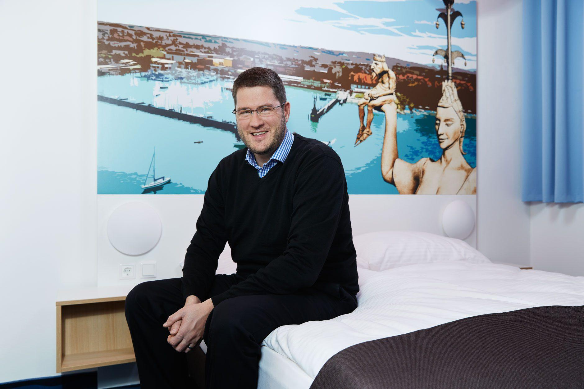 Businessporträt Max Luscher, Geschäftsführer B&B Hotels, Hochheim am Main
