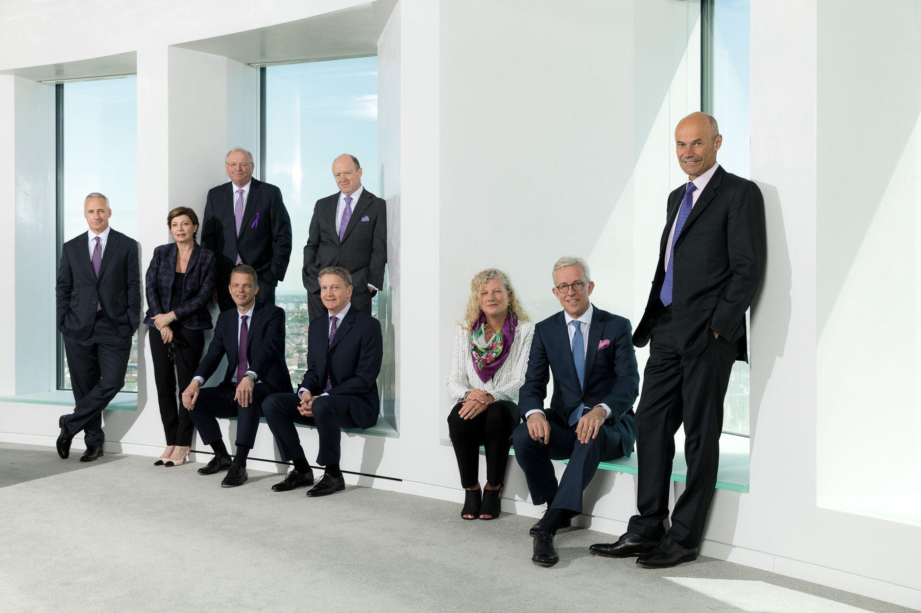 Gruppenfoto Vorstand Deutsche Bank, Frankfurt am Main