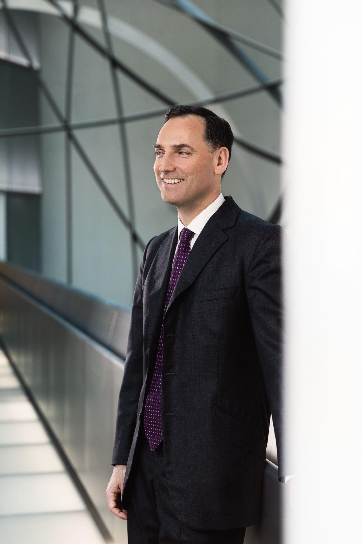 Businessporträt James von Moltke, Vorstand Deutsche Bank AG, Frankfurt am Main